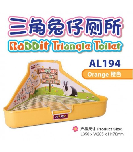 Alex Rabbit Triangle Toilet - Orange