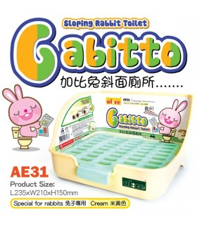 Alice Gabitto Sloping Rabbit Toilet - Cream