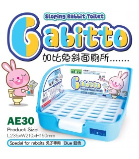 Alice Gabitto Sloping Rabbit Toilet - Blue