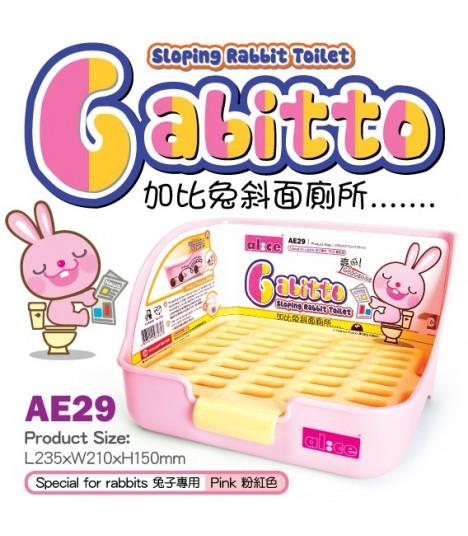 Alice Gabitto Sloping Rabbit Toilet - Pink