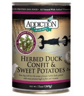 Addiction Dog Herbed Duck Confit & Sweet Potatoes Entree (Grain Free)