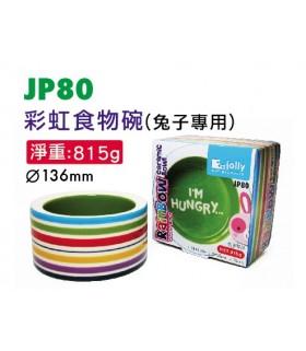 Jolly Rainbow Ceramic Rabbit Food Bowl