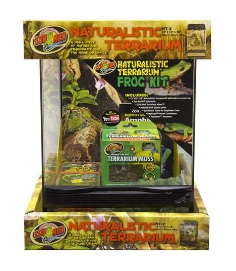 Zoo Med Naturalistic Reptihabitat Terrarium Frog Kit Moomoopets Sg