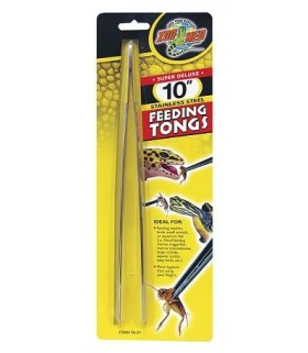 "Zoo Med Super Deluxe 10"" Stainless Steel Feeding Tongs"