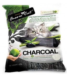 Fussie Cat Natural Charcoal Paper Litter 7L