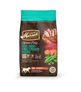 View larger Merrick Grain Free Real Duck & Sweet Potato Dry Dog Food