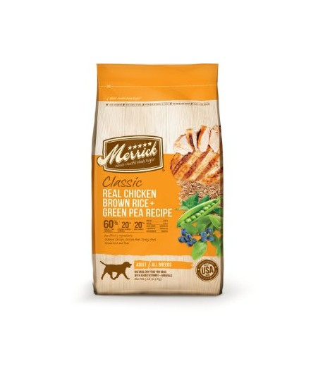 Merrick Classic Adult Real Chicken with Brown Rice & Green Pea Dry Dog Food