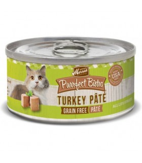 Merrick Purrfect Bistro Grain-Free Turkey Pate Canned Cat Food