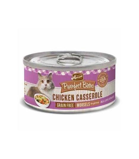 Merrick Purrfect Bistro Grain Free Chicken Casserole Canned Cat Food