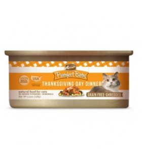 Merrick Purrfect Bistro Grain Free Shredded Thanksgiving Day Dinner Canned Cat Food