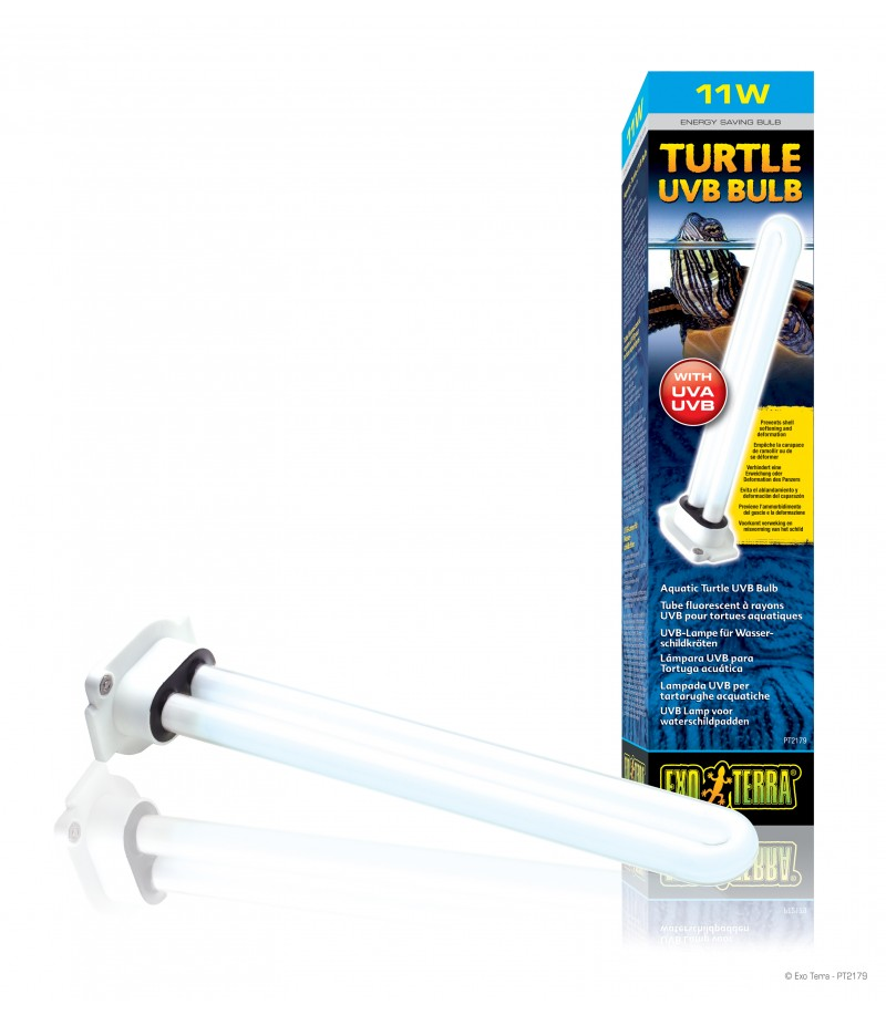 Exo Terra Turtle UVB Bulb/ Aquatic Turtle UVB Bulb - 11W - MOOMOOPETS ...
