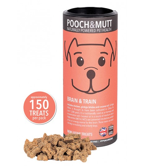 Pooch & Mutt Brain & Train Mini Bone Treats