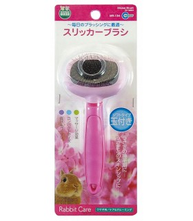 Marukan Rabbit Care Pink Slicker Brush