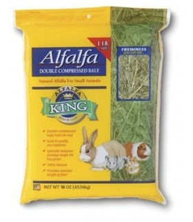Alfalfa King Alfalfa Hay Double Compressed 16oz (454g)