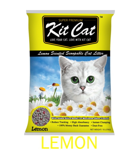 Kit Cat Lemon Scented Scoopable Cat Litter