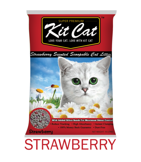 Kit Cat Strawberry Scented Scoopable Cat Litter
