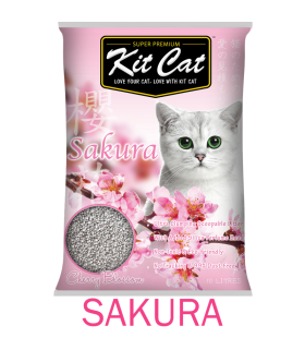 Kit Cat Aromatic Cherry Blossom Sakura Clumping Cat Sand