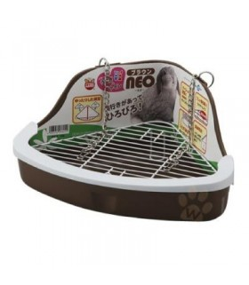 Marukan Litter Pan for Rabbit Neo Brown