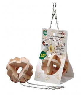 Marukan Hanging Wooden Cube (Hay) Ball