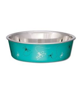 Loving Pets Bella Bowls Classic Dragonfly - Turquoise