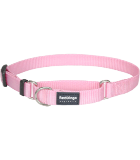 Red Dingo Martingale 15mm Pink Half Check Collars