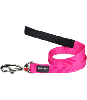 Red Dingo Hot Pink Classic Fixed Lead (Small)