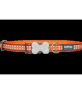 Red Dingo Reflective Orange Bucklebone Collar