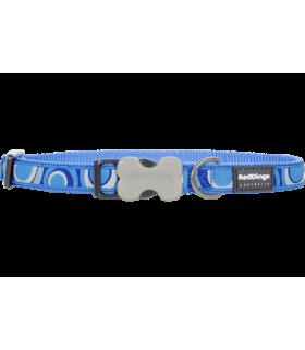 Red Dingo Bucklebone Circadelic Med Blue Design Collar