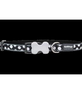 Red Dingo Bucklebone White Spots Black Collar