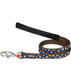 Red Dingo Blue Spots Brown Fixed Lead