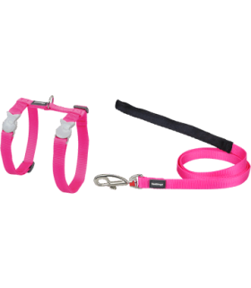 Red Dingo Hot Pink Classic Harness & Lead Set