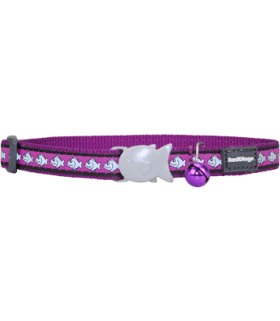 Red Dingo Purple Reflective Safety Collar