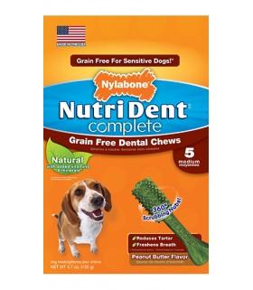 Nylabone - Nutri Dent Complete Peanut Butter (Grain Free) - 8ct