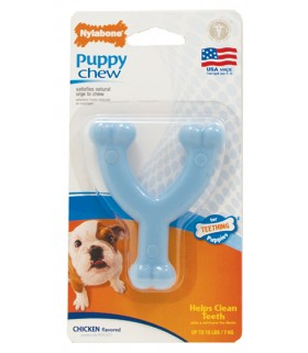 Nylabone - Puppy Chew Wishbone Blue (Petite)