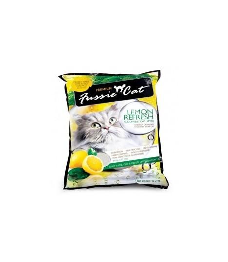 Fussie Cat Litter Lemon Refresh 10L