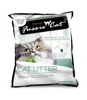Fussie Cat Litter Scoopable 10L