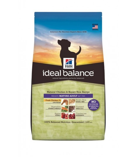 Ideal Balance - Mature Adult Natural Chicken and Brown Rice Recipe (4lbs)