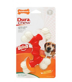 Nylabone - Dura Chew Double Bone Bacon (Petite)