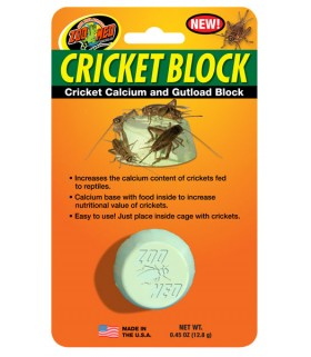 Zoo Med Cricket Block - Cricket Calcium & Gutload Block