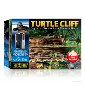 Exo Terra Turtle Cliff Aquatic Terrarium Filter & Rock S
