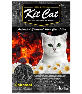 Kit Cat Activated Charcoal Pine Cat Litter