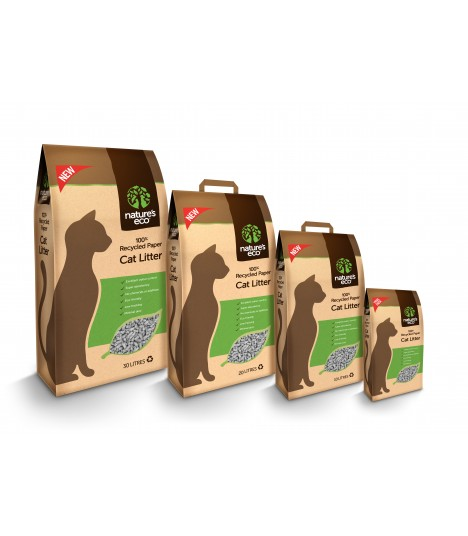 Nature's Eco 100% Recycled Paper Cat Litter 30 Litre