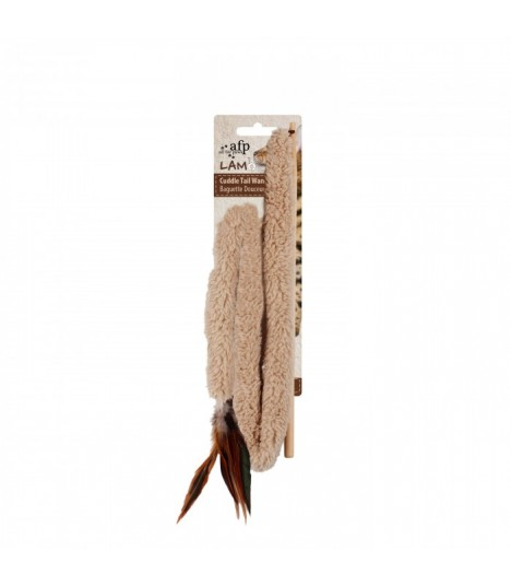 AFP Lamb Cuddle Tail Wand Brown
