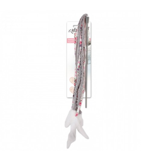 AFP Shabby Chic Cat Streamer Wand Grey