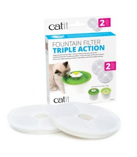 Hagen Catit Triple Action Fountain Filter - 2 pack