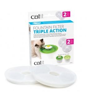 Hagen Catit Triple Action Fountain Filter - 2 pack