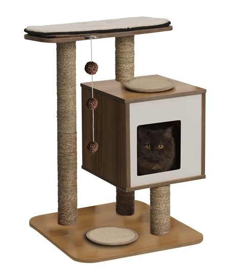Hagen Vesper Cat Furniture V-Base Walnut
