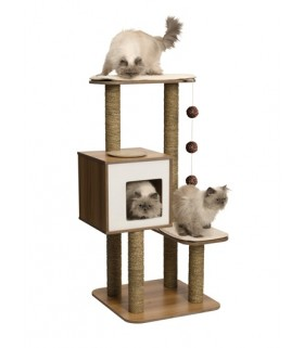 Hagen Vesper Cat Furniture V-High Base Walnut
