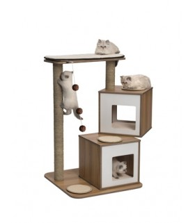 Hagen Vesper Cat Furniture V-Double Walnut