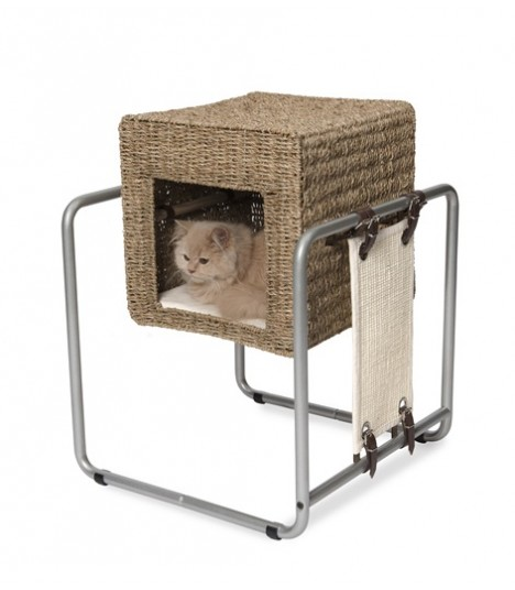 Hagen Vesper Cat Furniture V-Cube Seagrass